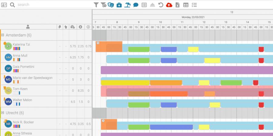 CCschedule Optimised Schedule